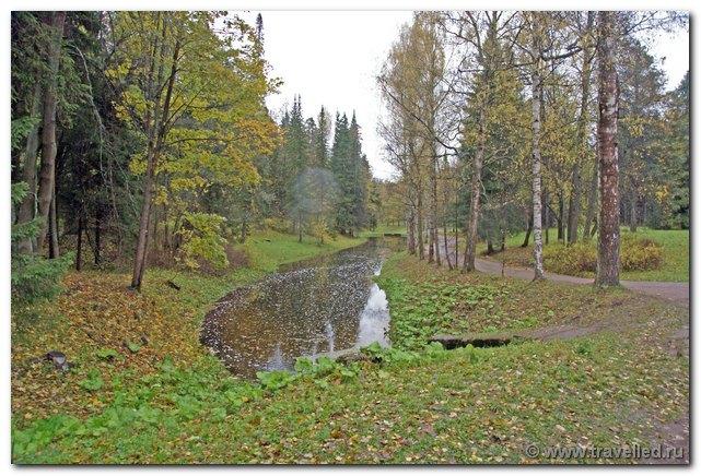 11. Подробный план прогулок по парку Павловска (ПППППП).  Сильно устаревший.  Многих объектов на этой схеме нет.